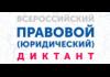 Четвертый Всероссийский правовой (юридический) диктант